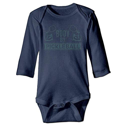 ARTOPB Unisex Newborn Bodysuits Body by Pickleball Baby Babysuit Long Sleeve Jumpsuit Sunsuit Outfit Navy Preemie-shirt