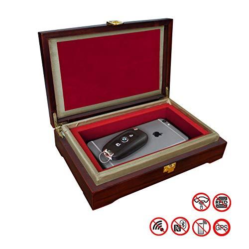 CigaMaTe Faraday Box für Autoschlüssel, Autoschlüssel, Diebstahlschutz, Schlüssellos, RFID-Signalblockierung, Smartphone, Anti-Hacking, Faraday-Fob-Beutel, blockiert NFC, WiFi, LTE, RFID -