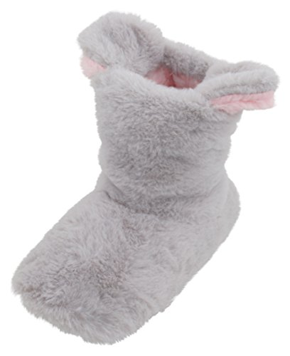 Slumberzzz Girls Plush Bunny Ears Bootie Slipper