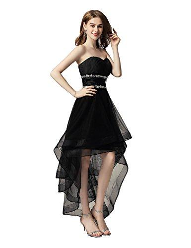 Sarahbridal Damen Tüll Bandeau Abendkleider Ballkleid Kurz Cocktailkleid Abschlusskleider SAJ014...