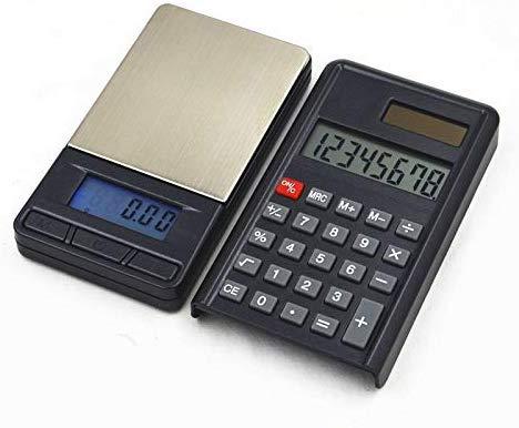 Precision Measurement 200g / 0.01g Rechner Elektronische Waage High Precision elektronische Schmucksache Mini Palm Digital-Taschen-Skala, tragbare und leicht zu bedienen (Farbe: Schwarz) TAOKE