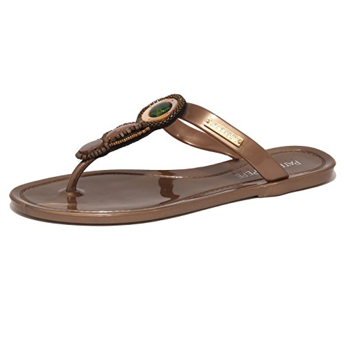 7723P infradito gomma PATRIZIA PEPE BEACHWEAR sandalo ciabatta Marrone