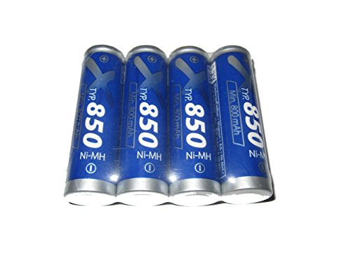 4X XCell Mignon Akku ECO NI-MH 1,2V / 850mAh gut für SOLAR - LEUCHTEN Batterie