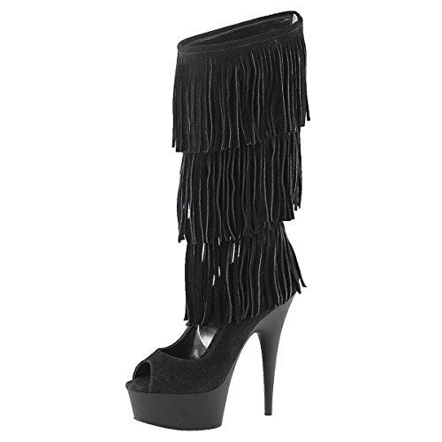 Heels-Perfect, Bottes pour Femme Noir