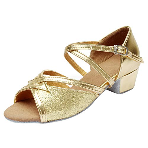 Lucky Mall Mädchen Niedrige Absatz Offene Zehenschuhe, Kinder Lateinische Ballett Tanzschuhe Party Schuhe Schöne Schlüpfen Schuhe Sommer Sandalen -