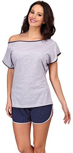 Merry Style Damen Schlafanzug D4R4TH6 (Muster-2, L) -