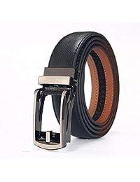 Cinturón de Cuero para Hombre Cinturones de Cuero para Hombre Correa Ancha  Wasit Correa con Hebilla f91135d5b99d