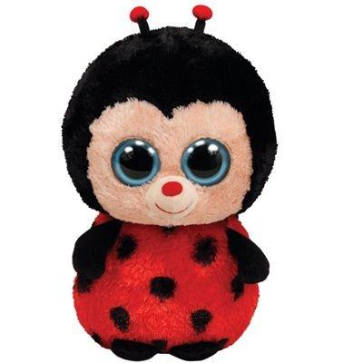 Ty 7136065 - Bugsy Beanie Boos, Coccinella di Peluche, 15 cm, Colore: Rosso