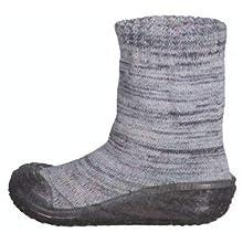 Playshoes Unisex Children Socks Knitted High Slippers, Grey (Grau 33), 4 UK (20/21 EU)