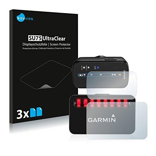 Savvies Protector de Pantalla compatible con Garmin Varia (Radar para bicicletas) [6 Unidades] - Transparente
