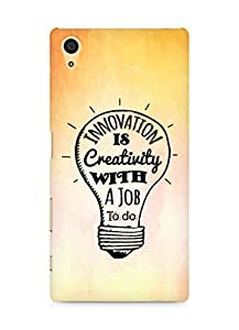 Amez Innovation is Creativity with a Job to do Back Cover For Sony Xperia Z5