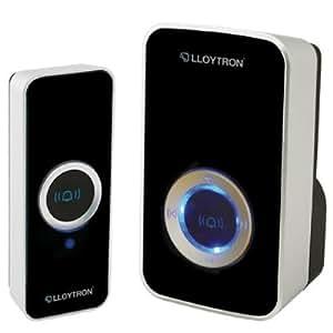 Lloytron B7501BK Wireless Mains Plug-In Door Chime