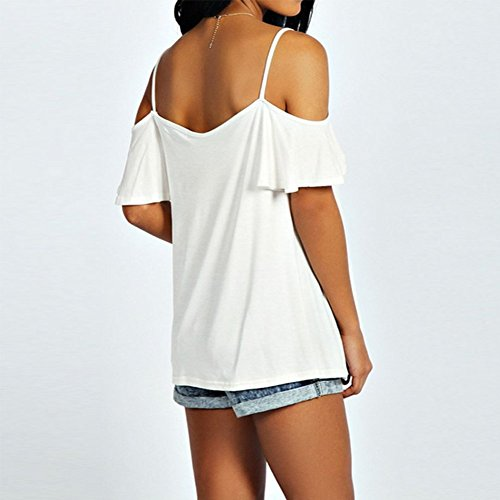 ETOSELL Femmes Plus La Taille Casual Chemisiers Blanc