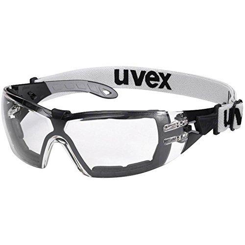 Uvex Schutzbrille pheos Guard 9192180 Schwarz, Grau