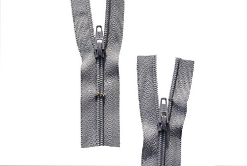 Reißverschluss hell grau für Bettwäsche Kopfkissen Bettbezüge schließbare Länge 90 cm