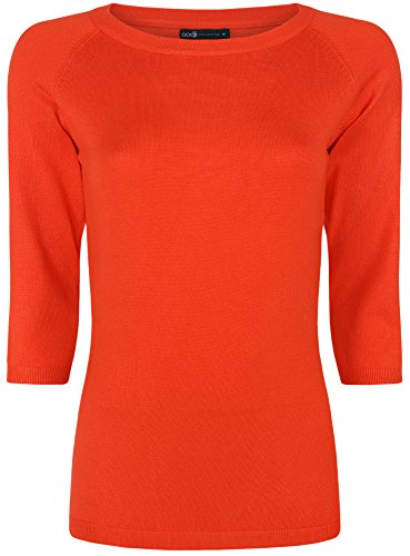 oodji-collection-mujer-jersey-bsico-manga-3-4-rojo-es-44-xl