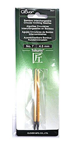 Clover Takumi Stricknadeln Bambus auswechselbare Rundstricknadeln No - Clover-stricknadeln Takumi