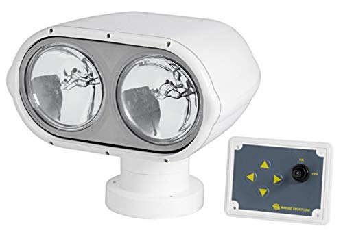 Osculati Scheinwerfer Night Eye 2 Leuchten 12 Volt 100 + 100W mit wasserdichtem Schaltpaneel