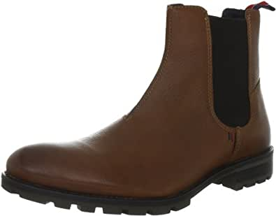 Tommy Hilfiger Men's Carlos 8A Cognac/Coffee Bean Pull On Boot FM56814749 9 UK, 43 EU