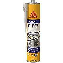 Sikaflex 11 FC+, Adhesivo multiusos y sellador de juntas elástico, Blanco, ...