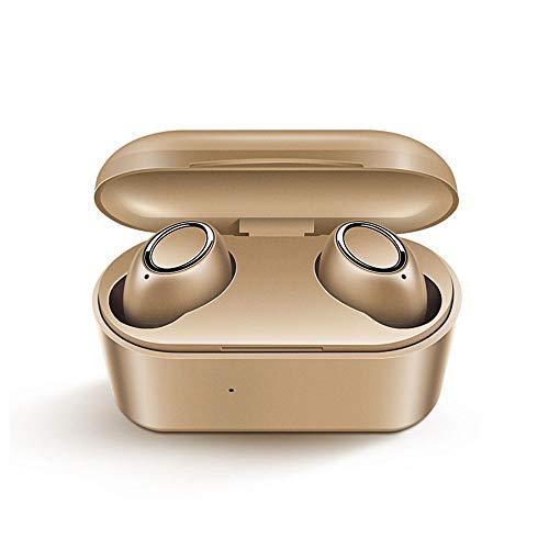 JS Products Bluetooth Kopfhörer 5.0 TWS Mini Wireless Ohrhörer Touch Control 3D Stereo Bass Bluetooth Headset mit Ladebox,Gold