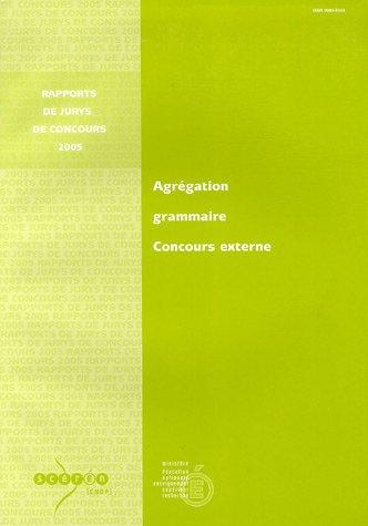 Agrégation Grammaire : Consours externe