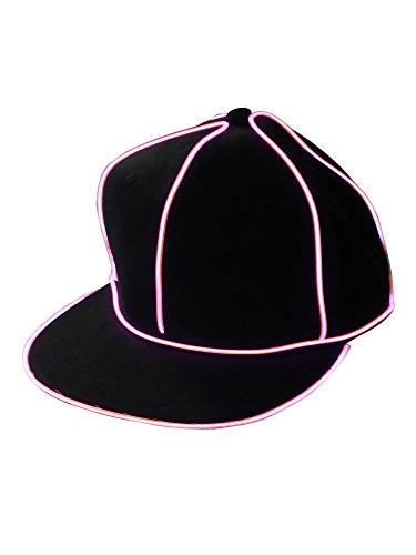 LED Baseball Cap Pink (Aaa Baseball)