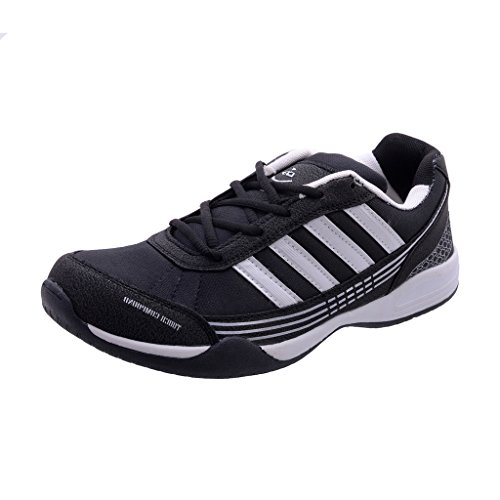 Fashion Porcupine Men's Black Canvas/Synthetic Running Sport Shoes '6 UK/IN'