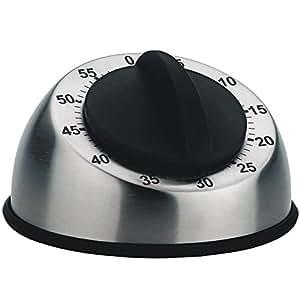 Kela 15312 Trafo Minuteur Acier Inoxydable Argent/Noir 9,5 x 9,5 x 6,5 cm