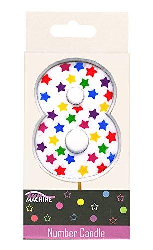 Islander Fashions Kinder Geburtstag Sterne Kerzen Kinder Fancy Geburtstag Party Dekoration Zubeh�r 8. Geburtstag auf Gr��e