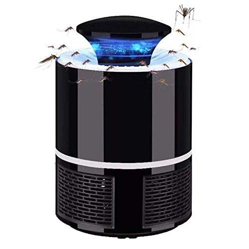 YongBe Elektronischer Moskito-Mörder, Wanze Zapper Insektenschutz-Fliegen-Mörder, USB Angetriebene LED-Inhalator-Mückenschutz-Lampe,Black-13*13*19cm