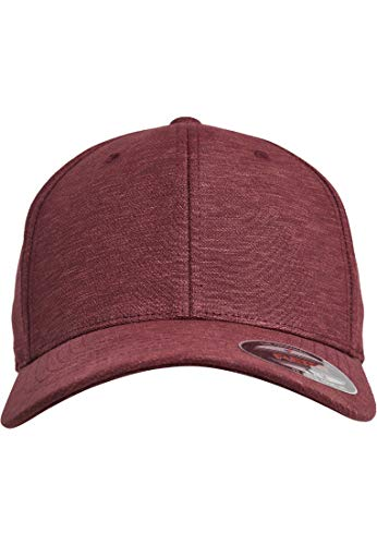 Flexfit Natural Melange Kappe, burgundy S/M - Flex Fit Cap
