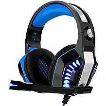 Cuffie Gaming per Xbox One PS4, Beexcellent Cuffie Gaming Headset con Microfono Audio Surround Cancellazione di Rumore con Mic 3.5 mm jack Deep Bass, Controllo del Volume per PC Smartphone