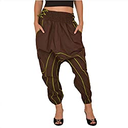 Skirts & Scarves Womens Cotton Afghani Yoga / Harem Pant / Pajama (Green)