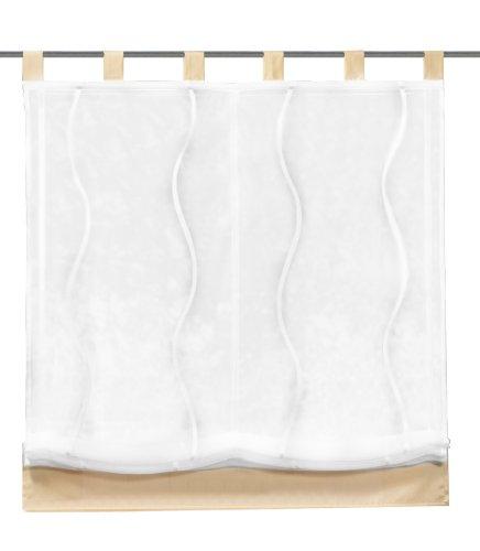 Home fashion 79449-811 tenda a pacchetto con motivo ondulato, scherli, 150x100 cm, colore: ecru
