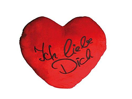 Preis am Stiel XXL-Herzkissen ''Ich liebe dich'' | Valentinstag Dekoration romantische Geschenke | Kissen mit Spruch