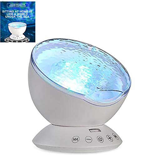 LZWK Luz Nocturna Botón táctil Inteligente Ocean Star Lámpara de proyección Carga...