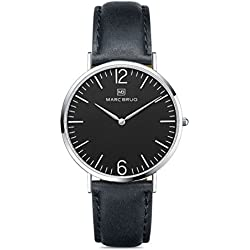 Marc Brüg Ladies' Minimalist Watch Davos 36 Black