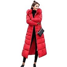 kigins Damen Daunenmantel Lang Winterjacke Warm Daunenjacke Frauen  Übergangsjacke Parka Outwear Winter Jacke Mantel 3a73483afd