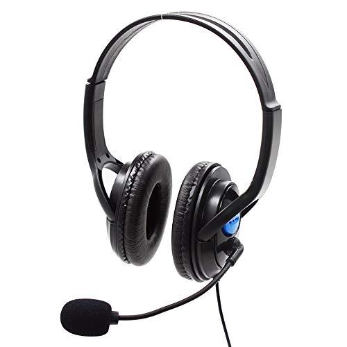 CAOQAO Casque Gaming Casque Gaming avec Micro DéTachable pour PC/PS4/Xbox/Mobile Tablette Smartephone, Headphone Headset Anti Bruit,Noir