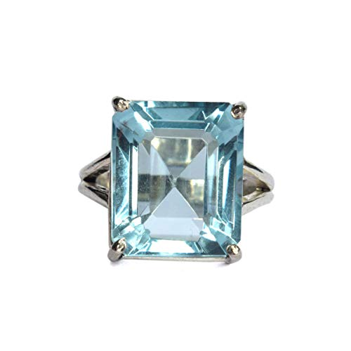 Aqua Himmel Aquamarin Silber Ring Ca. 30-40 Ct 925er Sterling Silber Ring Man Ring, Aquamarin Damenring, Vatertagsgeschenk Ring, Aquamarinring