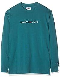 Tommy_Jeans TJM Longsleeve Small Logo tee Camisa Deportiva para Hombre