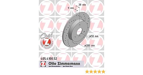 Zimmermann 405 4100 52 Bremsscheibe Vorne Coat Z Auto