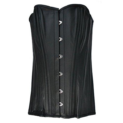 Zoelibat 53012590.008X S-Burlesque Supporti Pelle pieno petto corsetto con reggicalze, grandi XS, nero
