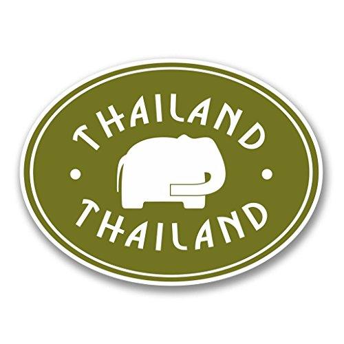 Preisvergleich Produktbild 2 x 10cm/100mm Thailand Vinyl SELBSTKLEBENDE STICKER Aufkleber Laptop reisen Gepäckwagen iPad Zeichen Spaß #6413