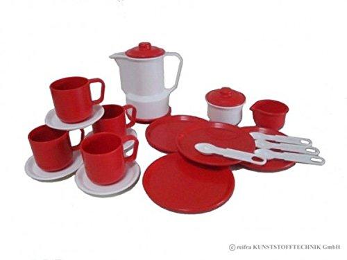 Kaffeeservice 'Gitta' weiß/rot - Puppenservice