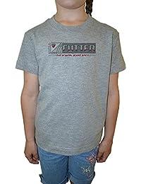 Cutter The Original Ocean Sprit Niña Niños Camiseta Cuello Redondo Gris Algodón Manga Corta Girls Kids T-shirt Grey
