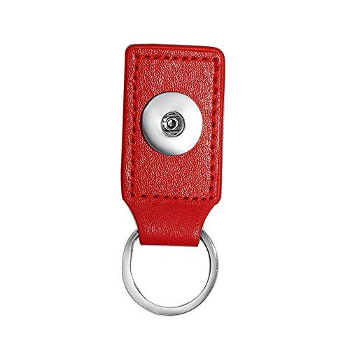 Flirt-perlen Rock (ANDANTE Leder Chunk SCHLÜSSELANHÄNGER oder TASCHENANHÄNGER (Rot) für Chunks Click-Buttons Druckknöpfe)