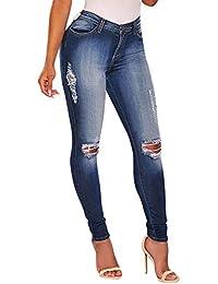 Goldatila Jeans für Damen Womens Stretch Denim Ripped Butt Lifting Jeans S-XXXL