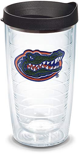 Tervis 1013154 Florida Gators Gator Becher mit Emblem und schwarzem Deckel, 454 ml, transparent -